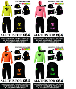 PERSONALISED JELLY TIME MERCH DEAL XLSack,Hoody,Joggies,Cap,Backpack&Pencilcase