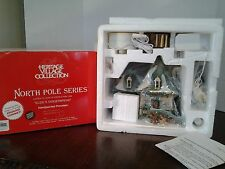Dept 56 North Pole ELSIE'S GINGERBREAD Never Removed From Box Cool Smoke Effect
