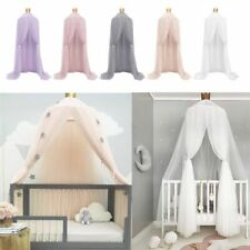 Kids Baby Bed Canopy Netting Bedcover Mosquito Net Curtain Bed Dome Tents NEW