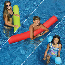 "Swimline 55"" Sunsoft Fabric Covered Pool Doodle Float Noodle - Blue Lime Red 3Pk"
