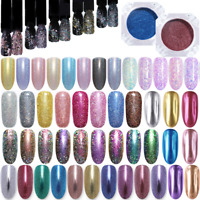Nail Glitter Powder Holographicss Nail Art Chrome Pigment  Decoration Tips