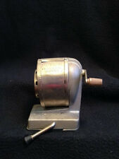 VINTAGE BOSTON VACUUM MOUNT PENCIL SHARPENER 8 HOLE USA MADE MANUAL