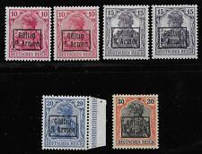 Etappengebiet der 9 Armee stamps 1918 Mi 1-4 Shades Mlh Vf