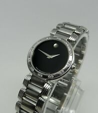 Womens Authentic Swiss Movado Diamond Bezel Serenade 0605033 Museum Dial Watch