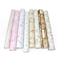 10m/33ft Self Adhesive Wallpaper Roll Vinyl Pastoral Wall Paper Floral Sticker