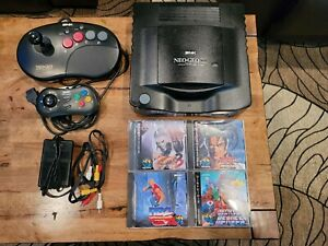 SNK NEO GEO CD Console System with Lot 4 Games  Tested Perfect