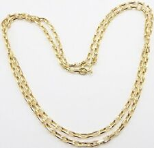 Heavy 9 carat solid yellow gold chain necklace. 13.9 grams 28 inch long chain.