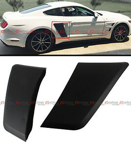 For 2015-2020 Ford Mustang GT Style Rear Fender Panel Side Body Flare Scoops