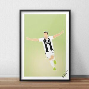 Cristiano Ronaldo INSPIRED WALL ART Print / Poster A4 A3 juventus football