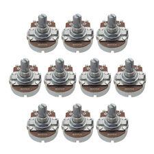 NEW 10pcs A500K Pots Full Size 15mm Short Shaft Guitar Bass Tone Pots with Tip