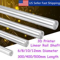 300-500mm 6-12mm CNC 3D Printer Axis Chromed Smooth Rod Steel Linear Rail Shaft