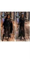 ZARA BLACK LONG SEQUINNED PARTY DRESS LIMITED EDITION SIZE XS-S BNWT RRP£90
