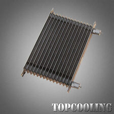 15 Row AN10 Aluminum Engine Transmission Oil Cooler Black Trust Style