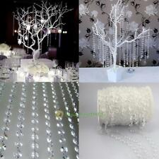 33ft Garland Diamond Strand Acrylic Crystal Bead Curtain Wedding Party Decor