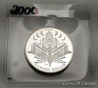 2000 Canada Silver Dollar UNCIRCULATED PROOF Coin - Discovery  #coinsofcanada