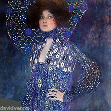 Emilie Floege by Gustav Klimt 12 x 12 inch mono deluxe Needlepoint Canvas