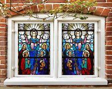 3D Priest Aura B202 Window Film Print Sticker Cling Stained Glass UV Block Amy