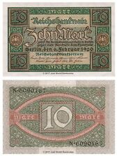 Alemania 10 Mark 1920 P-67a Billetes Unc