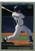 AARON ROWAND 2000 TOPPS TRADED ROOKIE CARD RC #T61