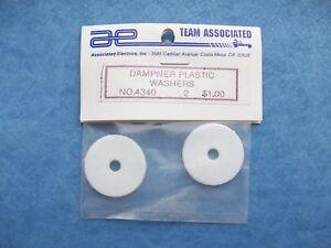 ASSOCIATED 4340 DAMPNER DAMPER WHITE PLASTIC WASHER SUSPENSION DISCS ASC4340