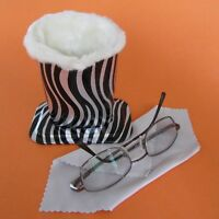 Zebra Design Plush Eyeglass Stand Holder with Cleaning Cloth, SAVE 20 %