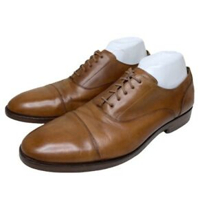 Cole Haan Grand OS Harrison Cap Toe Leather Dress Shoes Brown 11 M C24160 Clean
