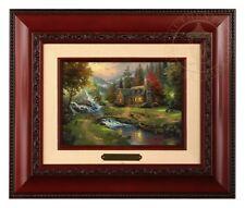 Thomas Kinkade Mountain Paradise Framed Brushwork (Brandy Frame)