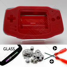New Red Shell & Glass Screen Nintendo Game Boy Advance GBA Housing/Case Kit