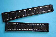 20/18mm Uhrband für  Tag Heuer Faltschließe  schwarz Krokoprägung