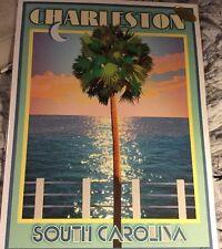 Charleston South Carolina Vtg Art Deco Style Travel Poster-by Aurelio Grisanty