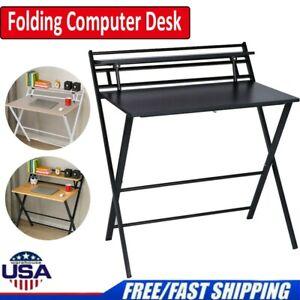 Folding Computer Desk Study Table Home Office Laptop Workstation Kids Desk