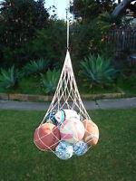 BALL CARRY NET holds 12 balls DRAWSTRING football soccer netball training - NEW!