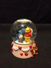 Rare Disney Winnie The Pooh & Eeyore Valentine Heart Surprise Small Snowglobe