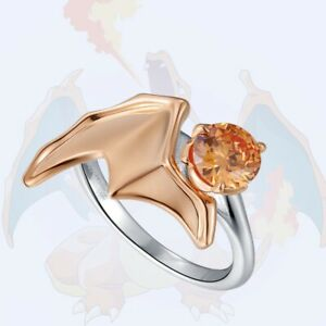 Charizard Sterling 925 Silver Engagement Ring