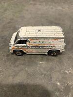 Vintage 1974 Hot Wheels Super Van WHITE with Flames Hong Kong Die Cast
