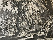Mort d' Absalom Jacob Matham d'après Hendrick Goltzius 1606 - 1652 Israël David