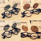 Vintage Retro Steampunk Googles Sunglasses Round Circle Flip Up Lens Glasses SZ