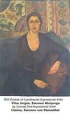 Clarissa von Blumenthal portrait of Vilna Jorgen Morpurgo