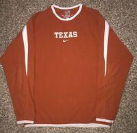 Nike Therma-fit Mens Orange University of Texas Longhorns Pull Over Size Medium
