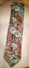 Ungaro Paris Flowers  pattern Men's 100% Silk Tie 9.5 cm Wide , 144 cm long