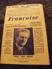 Partition Françoise Emile Van Herck