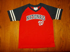 TEAM ATHLETICS MLB WASHINGTON NATIONALS SHORT SLEEVE SHIRT BOYS 7 EXCELLENT COND