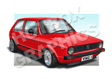 VW GOLF MK1 PRINT - PERSONALISED ILLUSTRATION OF YOUR CAR