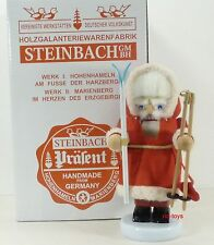 "Steinbach German Wooden Nutcracker Chubby ""Skiing Santa� S713 New"
