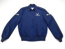 US Air Force USAF Lightweight Military Blue Uniform Jacket Coat 42 L Long