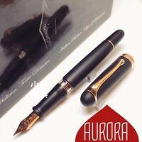 Aurora 88 Large Size Matte Black 14K Rose Gold Fountain Pen