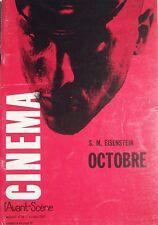 OCTOBRE  de SERGUEI MIKHAILOVITCH EISENSTEIN CINEMA AVANT-SCENE N° 74 de 1967