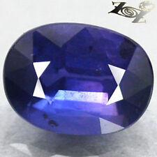 Unheated Eye Clean Natural Oval 5*6.5 mm. Tanga Mine Blue Sapphire 1.05 CT. Gems