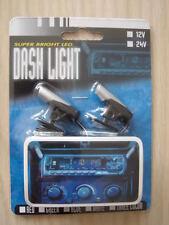 SUPER LUMINOSI BLU NEON LED DASH dashboard in auto Strobe CARICABATTERIE Lampadina Illuminazione Spot