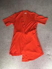 River Island Orange wrap around style top with tie belt - Size 8